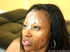 Ghetto Gaggers Cherokee - Cherokee gets her big ass pumped and her slutty face jizzed